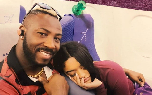 Andre Russell and his wife