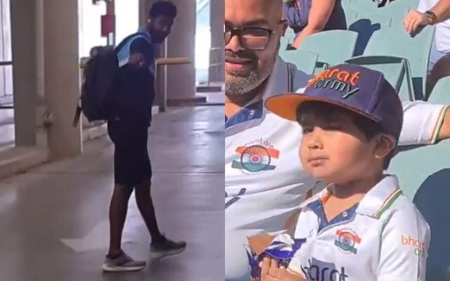Jasprit Bumrah meets his young fan