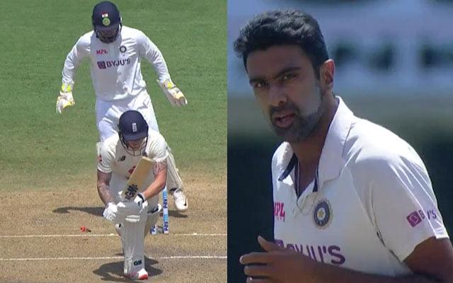 Ben Stokes bowled by Ravi Ashwin