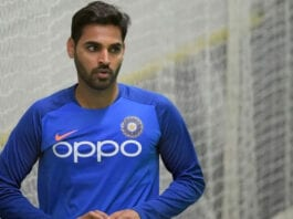 India pacer Bhuvneshwar Kumar