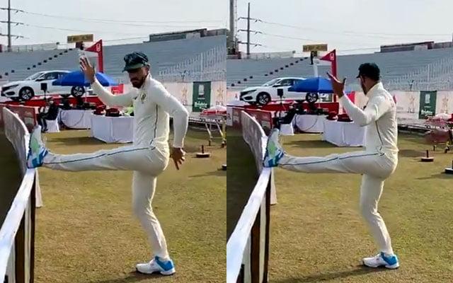 Faf Du Plessis dancing