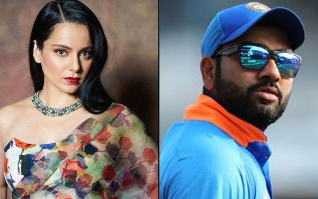 Kangana Ranaut and Rohit Sharma banter
