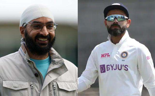 Monty Panesar and Virat Kohli