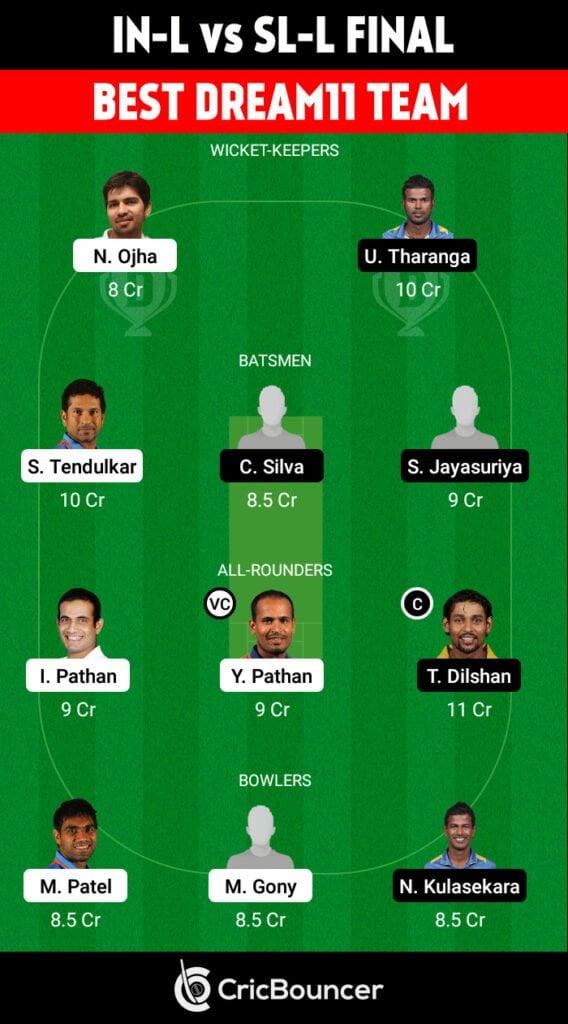 IND-L vs SL-L Final Best Dream11 Fantasy Cricket Team