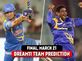 India Legends vs Sri Lanka Legends Today's Dream11 Predictions