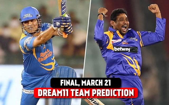 India Legends vs Sri Lanka Legends Today's Dream11 Predictions