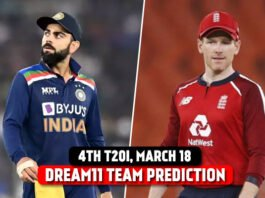 India vs England 4th T20I Dream 11 Prediction and Tips