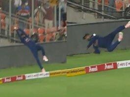 KL Rahul fielding against England