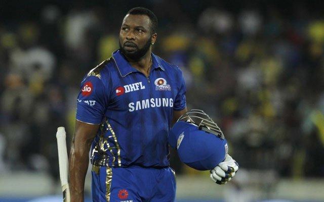 Mumbai Indians batsman Kieron Pollard