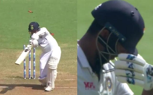 Washington Sundar reacts to Mohammed Siraj's wicket