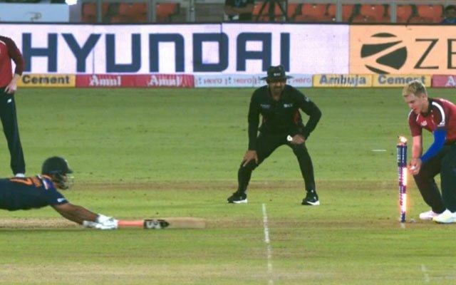 Rishabh Pant run out