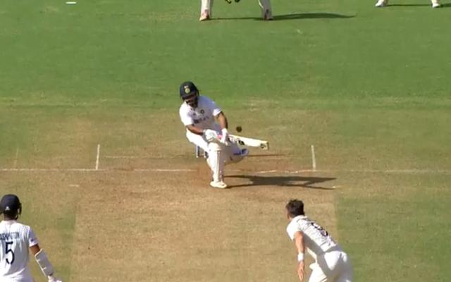 Rishabh Pant reverse-sweep