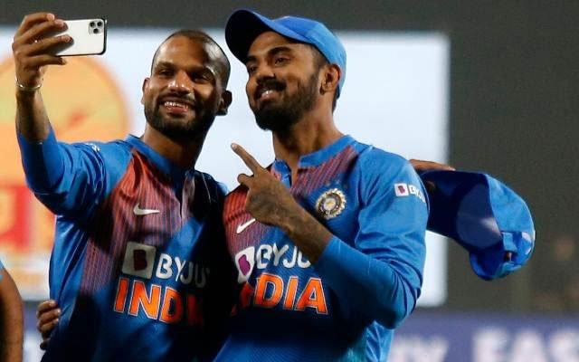 Indian openers Shikhar Dhawan and KL Rahul