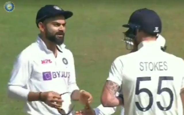 Virat Kohli and Ben Stokes fight