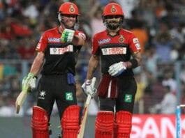 AB De Villiers and Virat Kohli RCB