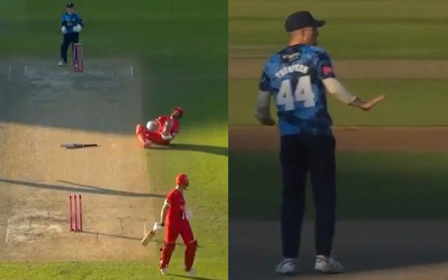 Joe Root sportsmanship against Lancashire in T20 blast