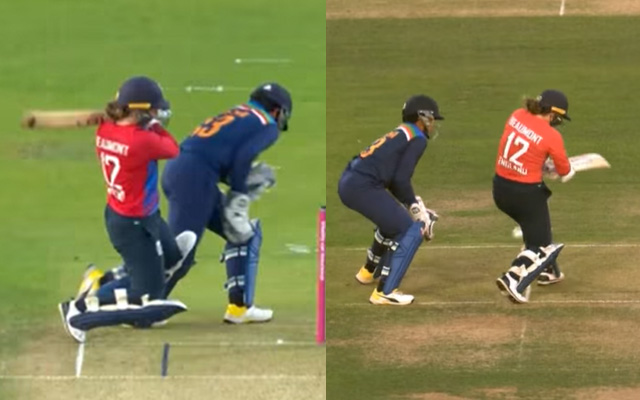 Tammy Beaumont playing a incredible shot against India women