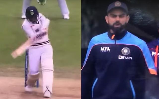 Virat Kohli fired up after Jasprit Bumrah hit a four