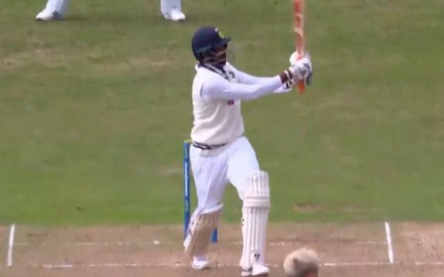 Jasprit Bumrah hitting a six against England