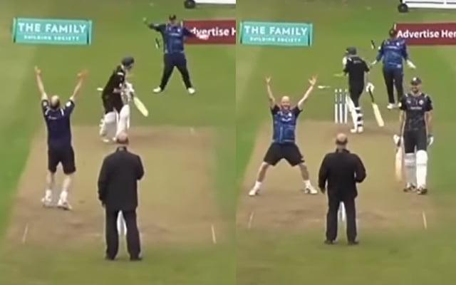 Dad bowled his son