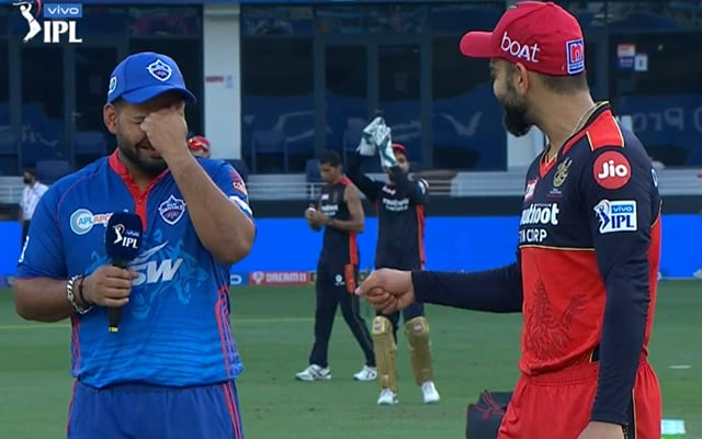 Rishabh Pant hilarious cry after losing toss